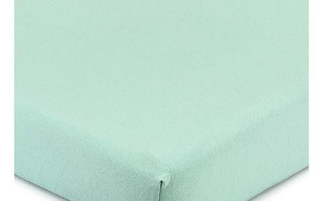 4Home Jersey prostěradlo s elastanem zelená, 160 x 200 cm