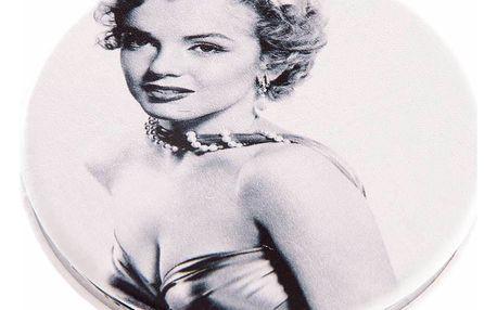 Kapesní kulaté zrcátko Marilyn Monroe Retro kovové