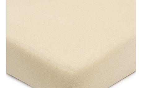 4Home Jersey prostěradlo s elastanem béžová, 160 x 200 cm