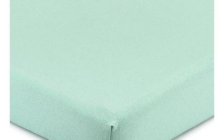 4Home Jersey prostěradlo s elastanem zelená, 180 x 200 cm
