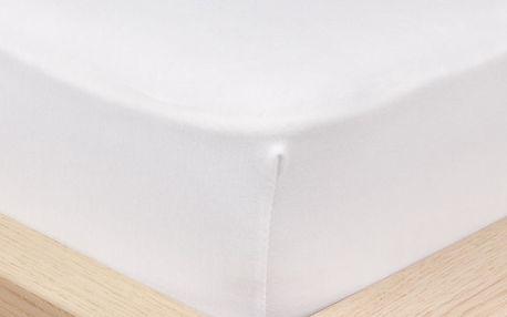 4Home Jersey prostěradlo s elastanem bílá, 180 x 200 cm