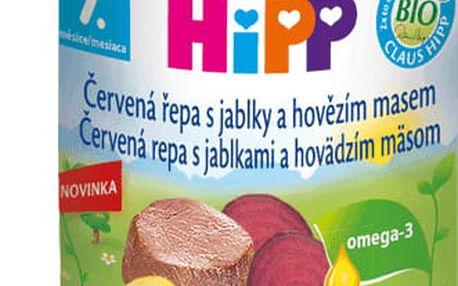 6x HIPP BIO červená řepa s jablky a hovězím masem (220 g) - maso-zeleninový příkrm