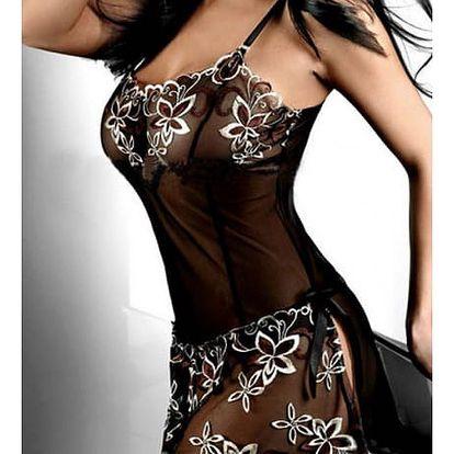 Dámská noční košilka s atraktivní výšivkou