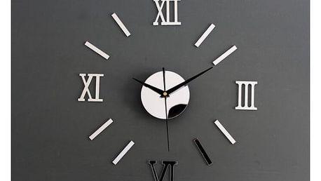 Nalepovací nástěnné hodiny se zrcadlovým efektem