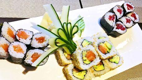 Asijský oběd: sushi set nebo Teriyaki burger