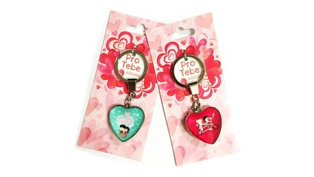Veselý přívěsek na klíče z lásky ve tvaru srdce