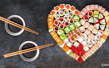 Valentýnské sushi sety se 40 či 44 ks