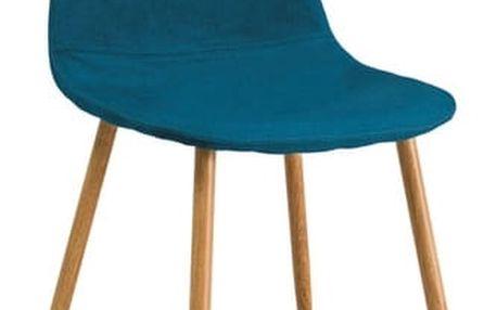Jídelní čalouněná židle FOX modrozelená