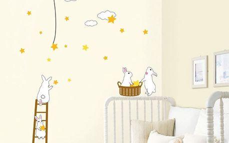 Samolepka Rabbit and Stars
