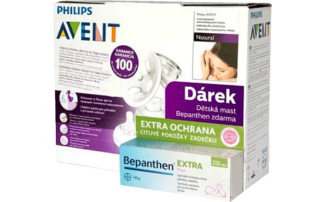 AVENT Odsávačka mateřského mléka Natural elektronická + Bepanthen 100g