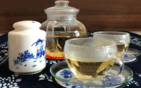 1 litr čaje či 2× káva a čínské sušenky