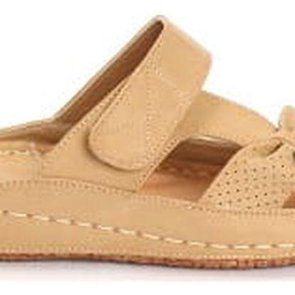 Dámské zdravotní pantofle KOKA 8 hnědé