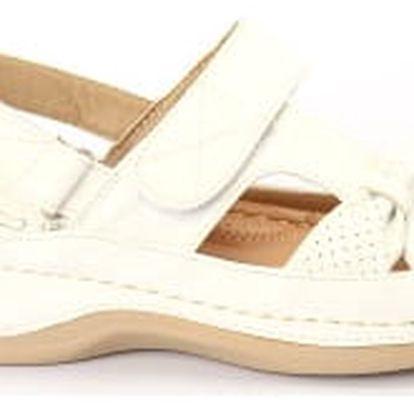 Dámské zdravotní sandále KOKA 1 bílé