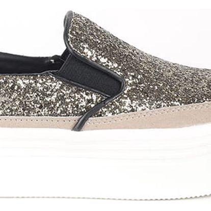 Boty Primadonna Calzatura Sneakers Glitter Orog Stříbrná