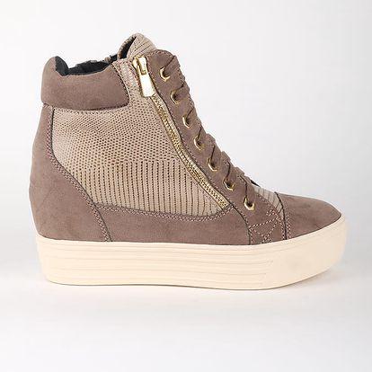 Boty Primadonna Calzatura Sneakers Microfibra Taup Hnědá
