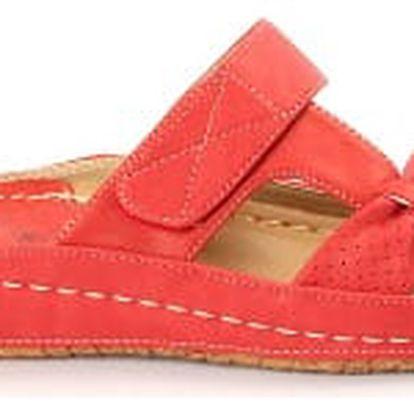 Dámské zdravotní pantofle KOKA 8 červené