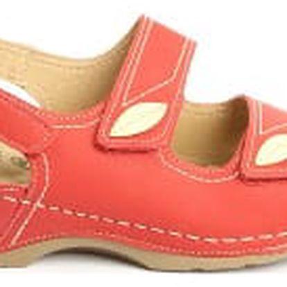Dámské zdravotní sandále KOKA 6 červené