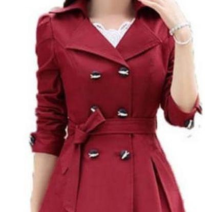 Podzimní dámský kabát - různé barvy