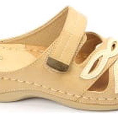Dámské zdravotní pantofle KOKA 10 béžové