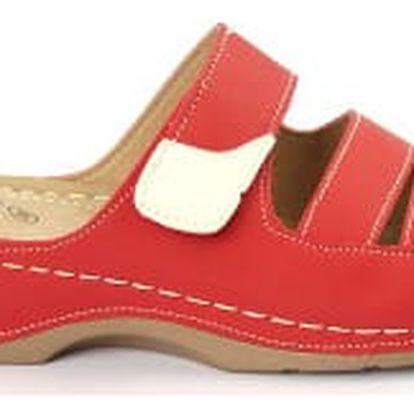 Dámské zdravotní pantofle KOKA 1 červené