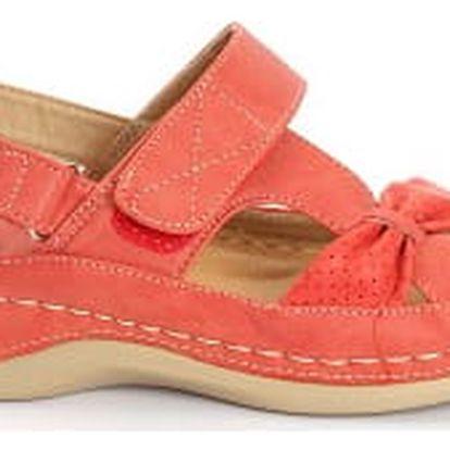 Dámské zdravotní sandále KOKA 1 červené