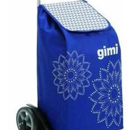 Gimi Nákupní taška na kolečkách Tris Floral modrá, 56 l