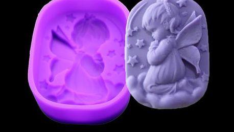 Silikonová forma pro výrobu mýdla - andělíček