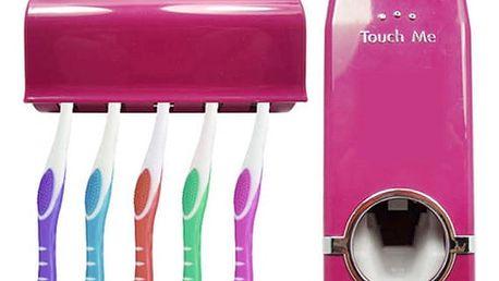 Dávkovač zubní pasty + držák na kartáčky