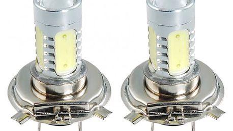 H4 9W auto LED žárovky - 2 kusy
