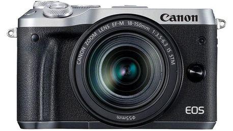 Digitální fotoaparát Canon EOS M6, stříbrná + 18-150mm 1725C022