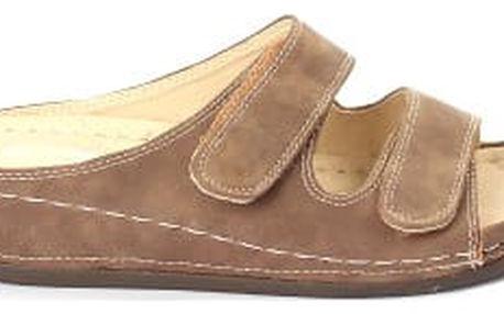 Dámské zdravotní pantofle KOKA 6 hnědé