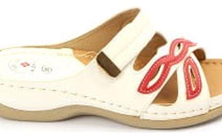 Dámské zdravotní pantofle KOKA 10 bílé