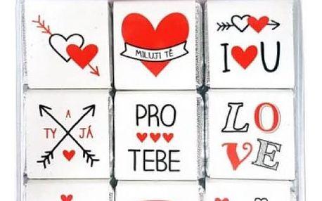 Čokoládové valentýnské puzzle