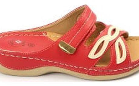 Dámské zdravotní pantofle KOKA 10 červené