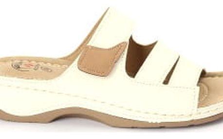 Dámské zdravotní pantofle KOKA 1 bílé
