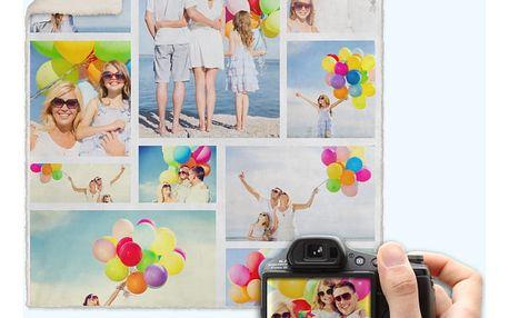 Deka s vlastními fotografiemi: 150×120 cm či 190×140 cm