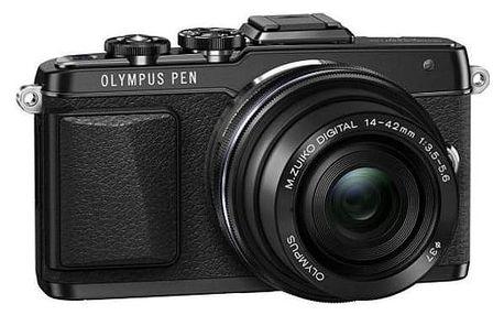 Digitální fotoaparát Olympus E-PL7 + 14-42 mm EZ, černá/černá