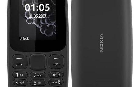 Mobilní telefon Nokia 105 Dual SIM 2017 (A00028348) černý