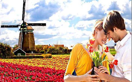 5 denní zájezd Amsterdam. Květinový park Keukenhof, Zaanse Schans, Alkmaar i Brusel