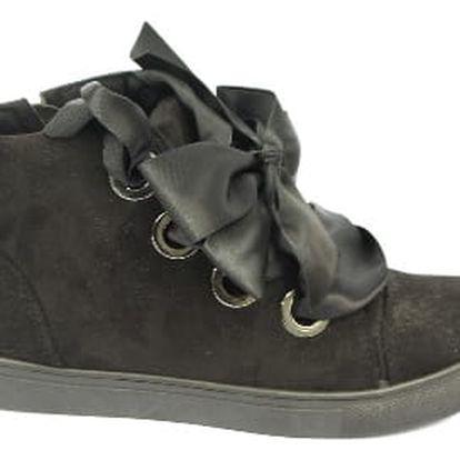 Dámské kotníkové boty RIBBON černé
