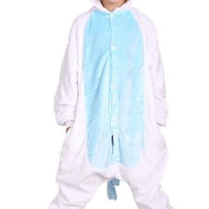 Originální dětský overal Kigurumi - Jednorožec bílo/modrý
