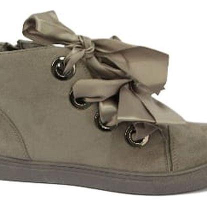 Dámské kotníkové boty RIBBON šedé