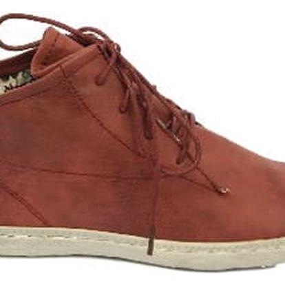 Dámské vycházkové boty bordó