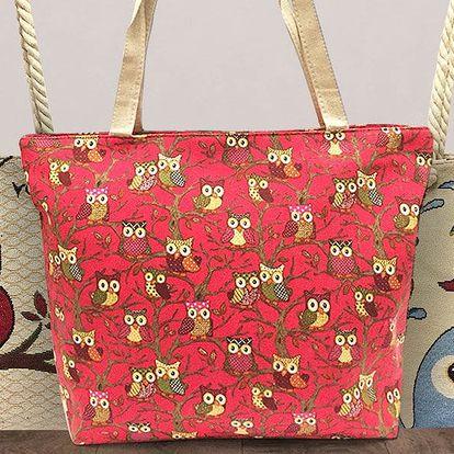 Dámské látkové tašky se sovičkami