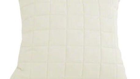Prošívaný povlak na polštář bílý