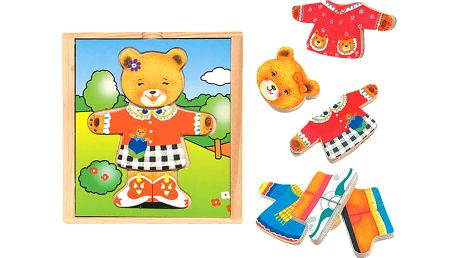 """WOODY Puzzle šatní skříň """"Medvědice"""", 18 dílů"""