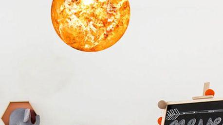 Samolepka svítící ve tmě - Slunce či Země - 30 cm