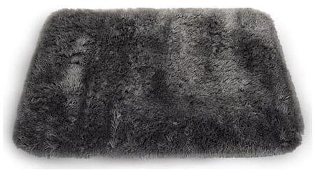 Sametově hebký koberec do koupelny grafit