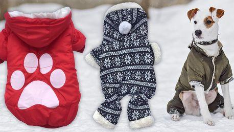 Hřejivé oblečky pro malé pejsky