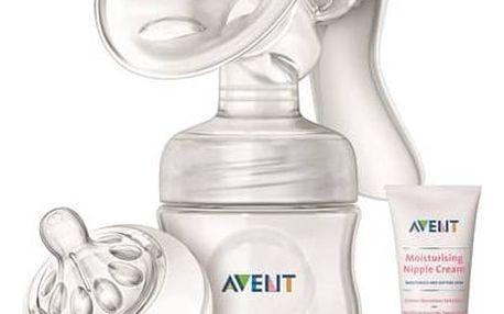 Odsávačka mateřského mléka Philips AVENT Natural se zásobníkem 125ml + krém